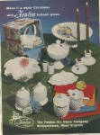 Click here to enlarge image and see more about item FE67: Fenton Art Glass Hobmail White Christmas AD