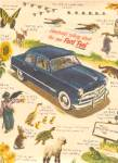 1949 Blue EVERYBODY'S Ford Car  Animals Ad