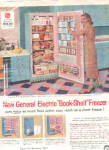 Click here to enlarge image and see more about item K010903G: 1957 General Electric Lady InRetro Kitchen Ad