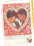 Click here to enlarge image and see more about item K012303A: 1960 Valentine Couple Coke Ad