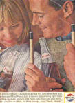 Click here to enlarge image and see more about item K013003Y: 1964 Pepsi Couple Playing Pool Ad