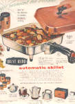 Click here to enlarge image and see more about item K021803D: 1957 Westbend Canister/Skillet/Breadbox Ad