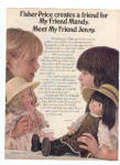 Click here to enlarge image and see more about item K021803P: 1980 Fisher Price My Friend MANDY JENNY AD