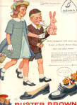 Click here to enlarge image and see more about item K022003A: 1958 Buster Brown Shoes Easter Bunny Ad