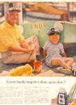 Click here to enlarge image and see more about item K022103X: 1957 Eastman Kodak Grandpa/Son Boat Ad