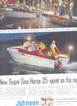 1958 Johnson Super Sea-Horse Boat Motor Ad