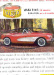 1958 Vista Simoniz Car Wax Corvette Ad