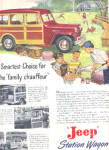1949 Jeep Family Chauffeur Station Wagon Ad
