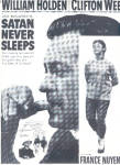1970 Will Holden Satan Never Sleeps Movie Ad