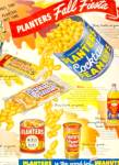 Click here to enlarge image and see more about item K025: 1954 Planters Peanuts Fall Fiesta AD