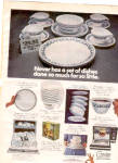 Click here to enlarge image and see more about item K030703F: 1975 Corelle By Corning Dinnerware Ad