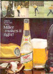 Click here to enlarge image and see more about item K030803A: 1968 Miller Beer Golfers Ad