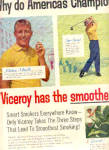 Click here to enlarge image and see more about item K030803J: 1957 Viceroy MICKEY MANTLE + More CIGARETTEAd