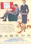 Click here to enlarge image and see more about item K031003G: 1956 Sabena Belgian World Airlines Ad