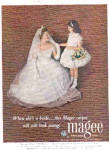 Click here to enlarge image and see more about item K031303H: 1952 Bride And Flowergirl Magee Carpet Ad