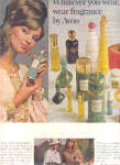 Click here to enlarge image and see more about item K031703L: 1967 Avon Perfume Bottles Ad EVELYN KUHN