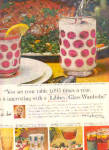 Click here to enlarge image and see more about item K031903AB: 1964 Libbey Glass Wardrobe Glasses Ad