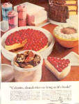 Click here to enlarge image and see more about item K032903LM: 1965 Tupperware Pie Saver + CALORIES Ad