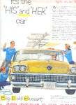 1958 BUICK His And Hers Yellow Air Born  Ad