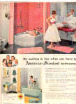 Click here to enlarge image and see more about item K040203A: 1956 American Standard AlmostNude Boy/Girl Ad