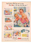 1944 Swan Soap Naked Nude CUTEST Baby Ad