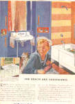 Click here to enlarge image and see more about item K052003H: 1948 Kohler Of Kohler Sailor Boy And Dog Ad