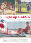 Click here to enlarge image and see more about item K062503B: 1958 Lucky Strike Golf/Tennis/Pool  Ad