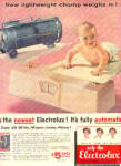 Click here to enlarge image and see more about item K070703A: 1954 Automatic Electrolux Cute Baby Ad