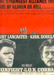Click here to enlarge image and see more about item K070703E: 1958 Burt Lancaster/Kirk Douglas OK Corral Ad