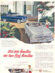 Click here to enlarge image and see more about item K071803J: 1950 Two-Ford Car Family Ad