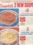 Click here to enlarge image and see more about item K100802H: 1960 Campbell Soup Ad TOMATO RICE TRANSFERWARE