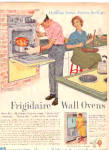 1960 Frigidaire Wall Oven MAN COOKING Kitchen