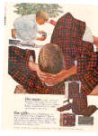 Click here to enlarge image and see more about item K100902E: 1963 Pendleton Robe Man and Boy Ad TED RAND