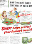 Click here to enlarge image and see more about item K101403FU: 1949 Dreft Dishwashing Soap Retro Green Ad