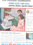 1959 Frigidaire Automatic Dishwasher Ad