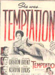 Click here to enlarge image and see more about item K102402D: 1946 Merle Oberon Temptation Movie Ad