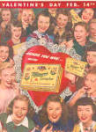 1947 Valentines Day Whitman's Candy Ad