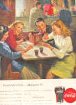 Click here to enlarge image and see more about item K102702D: 1947 Soda Fountain Boys/Girls Coca-Cola Ad