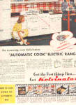 Click here to enlarge image and see more about item K102702E: 1947 Kelvinator Automatic Electric Range Ad