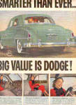 Click here to enlarge image and see more about item K121202N: 1950 2 Page Dodge Car Coming And Going Ad