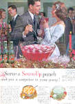 Click here to enlarge image and see more about item K121202Z: 1962 Seven Up 7UP Party Punch Ad