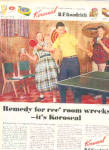 Click here to enlarge image and see more about item K121302D: 1952 Koroseal Materials Teenagers Fun Ad