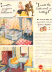 Click here to enlarge image and see more about item K122402B: 1948 American Standard Heating/Plumbing Ad