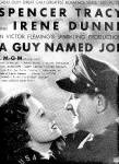 Click here to enlarge image and see more about item K1504: 1944 Spencer Tracy/Irene Dunne Movie Ad