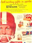 Click here to enlarge image and see more about item K351: 1960 Wilson  Sports Equiptment Ad