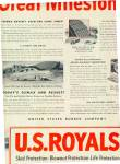 Click here to enlarge image and see more about item K714: 1951 U.S.  Royal Milestone Tire Ad