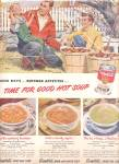 Click here to enlarge image and see more about item K775: 1949 Campbell Soup Fall Leaves Ad