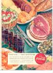 Click here to enlarge image and see more about item K960: 1951 Drink Coca-Cola Ham Olives Crackers Ad