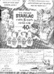 1952 Elsie  Cow Starlac Glass Milk Bottle Ad