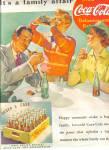 Click here to enlarge image and see more about item KAY118: 1937 Its A Family Affair Coca-Cola Ad